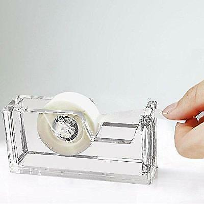 "Desktop Clear Acrylic Tape Dispenser 1"" Core - Classy, Elegant and Modern New"