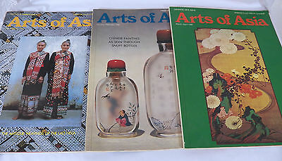3 ARTS OF ASIA Magazines 1982 Japanese Lacquer-Chinese Snuff Bottles-Textiles++