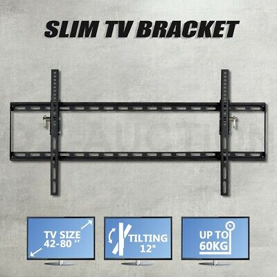 "42-80"" TV Bracket Wall Mount LCD LED Plasma Tilt Flat Slim Up to 60kg"
