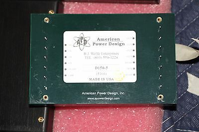 APD American Power Design  D150 Series 150W High Voltage DC/DC Converter