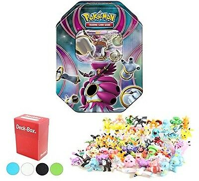 Pokemon Tin Featuring Hoopa EX with 6 Pokemon Figures and Deck Box