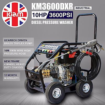 Kiam Diesel Pressure Washer Km3600Dxr Jet Wash - Gearbox Version - Heavy Duty