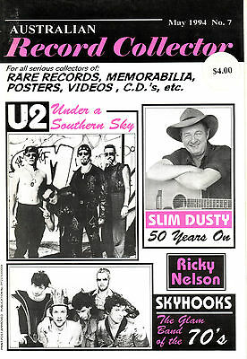 Australian Record Collector Issue 7 U2/slim Dusty/ Skyhooks 1995 94 Pages