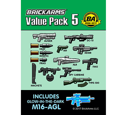 Brickarms Value Pack 5 - Can be used with Lego BNIP
