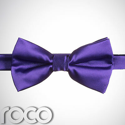 Boys Purple Banded Dickie Bow Tie Wedding Prom Page Boy Dickie Bows