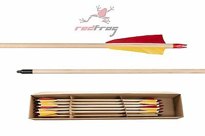 New Buck Trail Classic Spruce Wooden Target Arrows With 3D Points Set Of 6