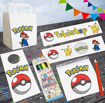 Pokemon Go Party Bags With Fillers Goody Loot Bags Girls Boys Kids Birthday