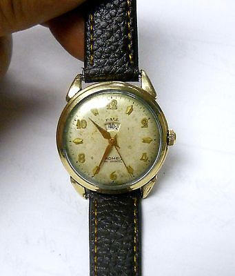 Rare Vintage Ball Indimatic 17J Automatic Mens Gold Filled Case Working Watch