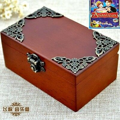 Vintage Wooden Rectangle Music Box : ♫ Anastasia:Once Upon A December ♫