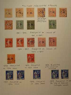 "France - 1901/64 ""military Franchise"" Collection On Leaves  (Ref.b1-2)"