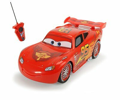 """NEW Disney Cars 1:32 Scale """"Lightning McQueen"""" RC Remote Controlled Car - Red"""
