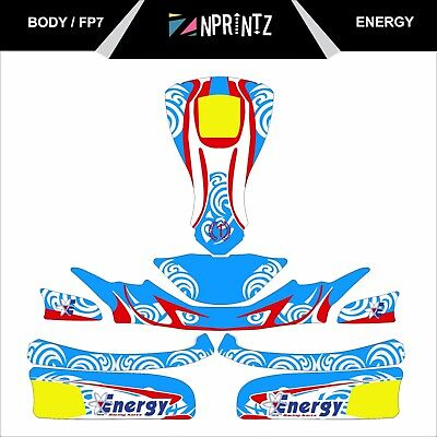 Fp7 Energy Style Full Kart Sticker Kit - Karting - Otk