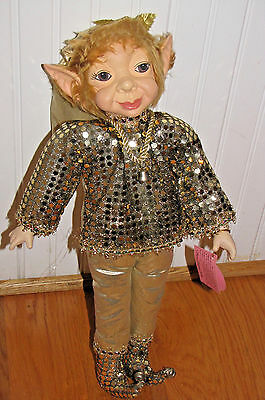 "Doll SHOW STOPPERS Porcelain Pixie Elf Fairy Florence Maranuk Ltd Ed 20"" CHEERS"