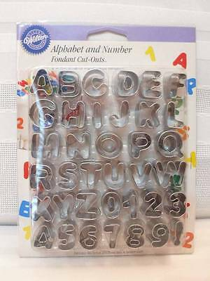New 2005 WILTON ALPHABET And NUMBER Fondant Cut-Outs IOP