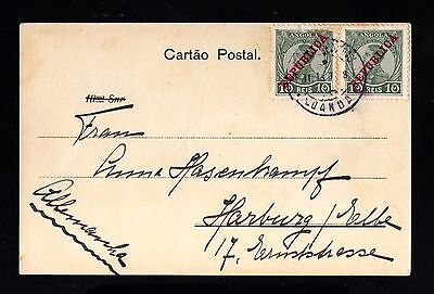 15190-ANGOLA-OLD POSTCARD LUANDA to HARBURG (germany) 1913.PORTUGAL colonies.