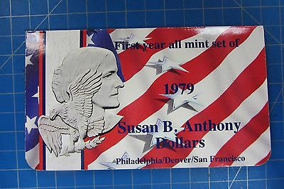 1979 P-D-S Susan B Anthony Dollars - First Year All Mint Set