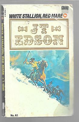 WHITE STALLION, RED MARE by J. T. Edson 1973 PB Corgi Books Paperback Western