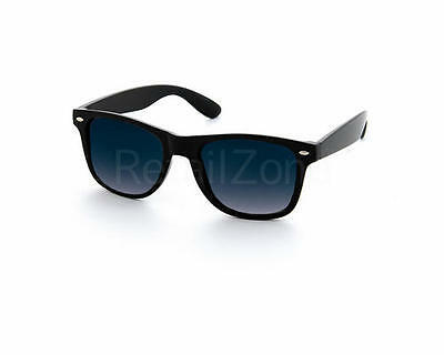 Black Wayfare Aviator Sunglasses Retro 80's Fashion Glasses Mens Ladies Geek