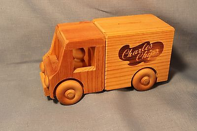 Charles Chips Wooden Truck Bank / Toy / Pinehouse Toys Burnsville MN