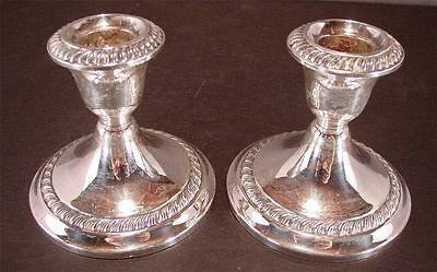 Set Of 2 Sterling Silver Gorham Candlesticks #667