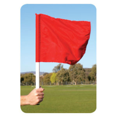 BUFFALO SPORTS REFEREE RUGBY LEAGUE / UNION FLAGS - RED - PAIR (RUG083x)