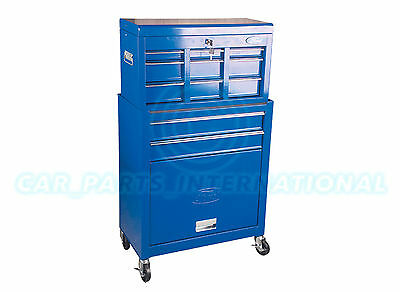 FORD TOOLS Metal Tool Box Cabinet with 2 Drawers  + Top Box with 3 Drawers