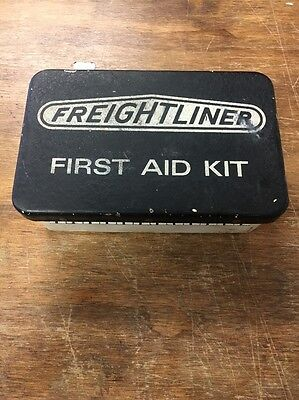 Vintage 1960s Freightliner metal First Aid Kit With Contents