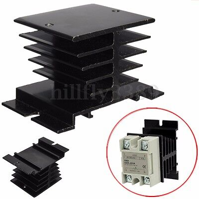 10A~40A Aluminum Heat Sink For Solid State Relay SSR Type Heat Dissipation Black