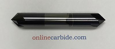 "3/8"" 4 FLUTE 90 DEGREE CARBIDE CHAMFER MILL - DOUBLE END - TiALN COATED"