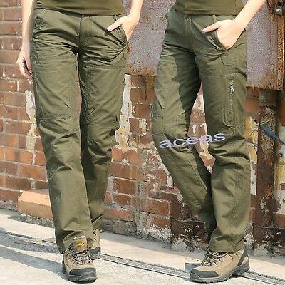 Outdoor Womens Overalls Straight Military Tactical Trousers Hiking Camping Pants