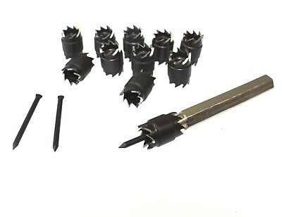 """13pc 3/8"""" Double Sided Rotary Spot Weld Cutter Remover Drill Bits Cut Welds Kit"""