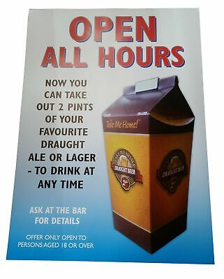2 pint Printed Beer Carton x 100 Disposable Hoppers + Poster