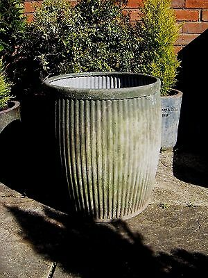 Vintage Vololo Galvanised Dolly Wash Tub Garden Planter Barrel