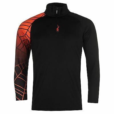 Spyder Kids Tribal Baselayer Top Junior Boys Print Sports Half Zip