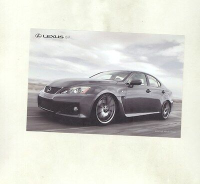 2010 Lexus IS-F ORIGINAL Factory Postcard my8742