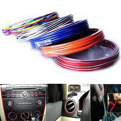 Red Edge Gap Line Point Molding Interior Accessory Garnish 3M for Universal Cars