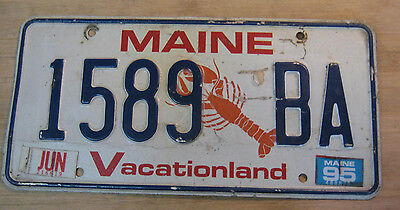 1995 Maine Lobster License Plate Expired 1589 Ba
