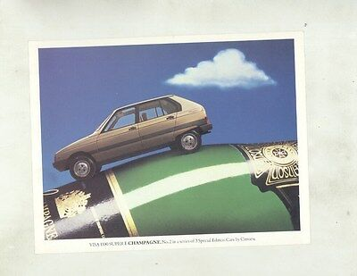 1983 ? Citroen Visa 1100 Super E Large ORIGINAL Factory Postcard my8787