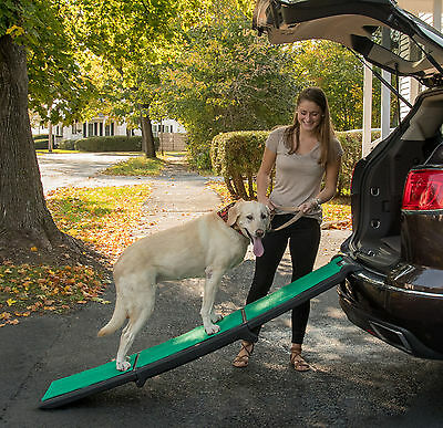 "NEW! Pet Gear Travel Lite Tri-Fold Dog/Cat Ramp with supertraX carpet 71"" Long"