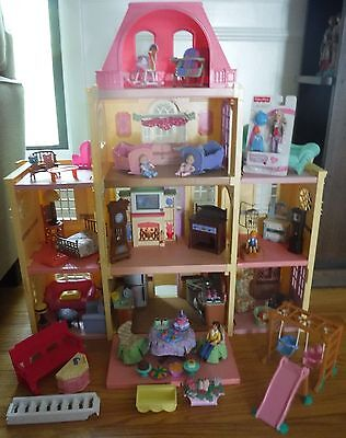 FP Loving Family Twin Time Grand Mansion Dollhouse Furniture  LOADED 70+ PCS