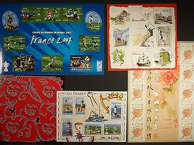 FRANCE - 2007 MNH COLLECTION OF M/S's AND SHEETLETS FACE VALUE €33+  (REF.A1-1)