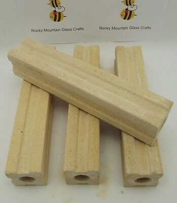 """Quality Kiln Posts 1-1/2 inches wide by 8"""" Tall Set of FOUR Fusing Stilts"""
