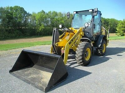 2015 New Holland W50C Wheel Loader, Cab, A/C, Heat, 3rd Valve, 506 Hours, Clean