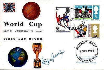 1966 World Cup Fdc 1-6-66 Wembley Fdi H/s Signed In Ball Point By Bobby Moore
