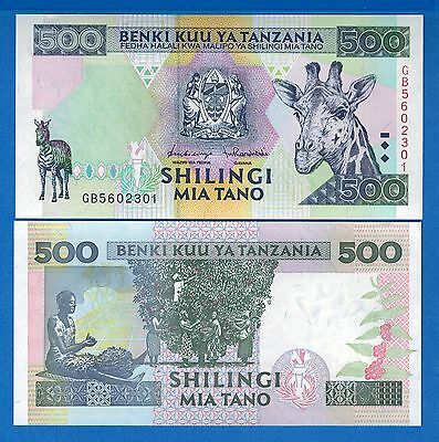 Tanzania P-30 500 Shillings Year ND 1997 Uncirculated Banknote