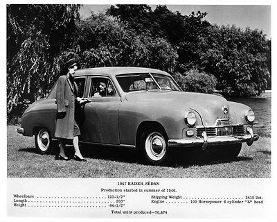 1947 Kaiser Frazer Sedan Factory Photo ad6662