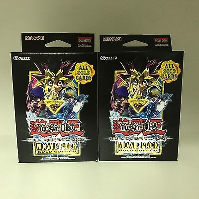 2pks Yu-Gi-Oh! Trading Card Game The Darkside of Dimensions Movie Pack Gold Ed.