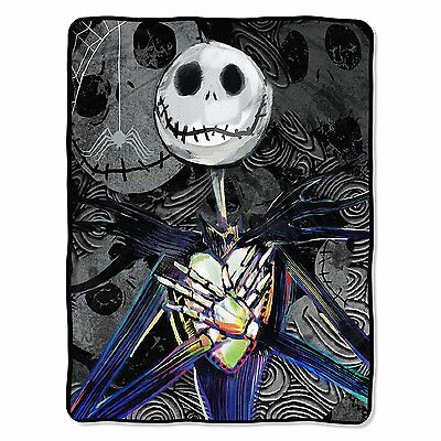Dark Creep Jack Skellington Nightmare Before Christmas NEW SOFT throw blanket