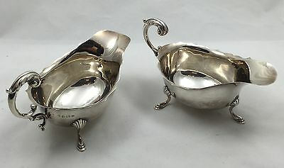 Pair Of Birmingham Solid Silver Sauce Boats 1930