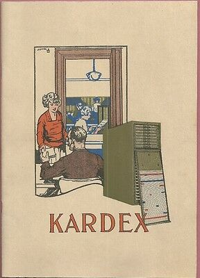 1920 Catalog KARDEX CARD FILING INDEX BUSINESS RECORD SYSTEM